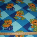 Fleece Baby Bears snuggle blankets blue plaid