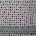 Cotton fabric retro dots in pink maroon and gray