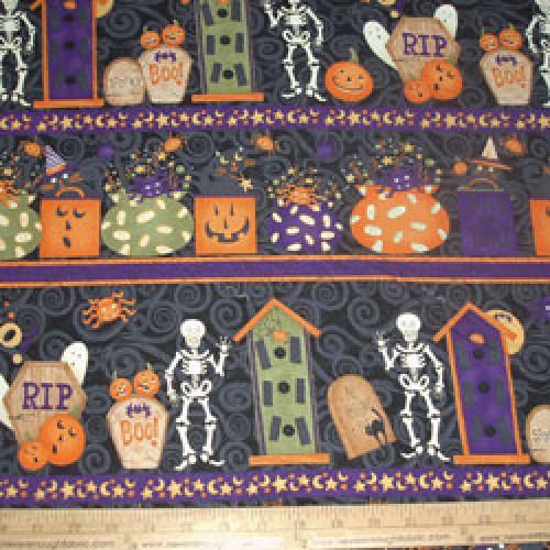 Halloween Fleece Fabric By The Yard