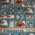 Fleece  Southwest Horse Kokopelli Pottery Gecko Eagle