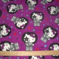 Hello Kitty Cotton KISS Rockstar on purple