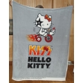Fleece Blanket Panel Hello Kitty rock band KISS Tricycle