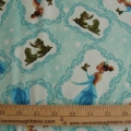 Disney Kinkade Princess and the Frog all over aqua