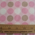 Claire Bella Flannel dots in pink and brown