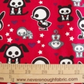 Skelanimals on Raspberry red