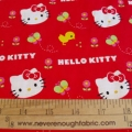 Hello Kitty Red Bird and Flowers