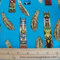 Native American Totem poles on Turquoise
